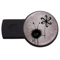 Evil Flower Bug Vintage 4gb Usb Flash Drive (round) by CreaturesStore