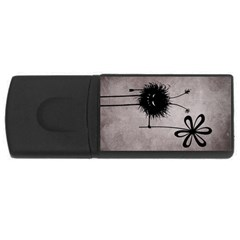 Evil Flower Bug Vintage 4gb Usb Flash Drive (rectangle) by CreaturesStore