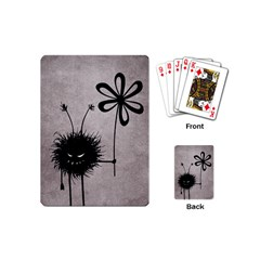Evil Flower Bug Vintage Playing Cards (mini) by CreaturesStore