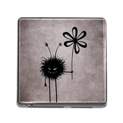 Evil Flower Bug Vintage Memory Card Reader With Storage (square) by CreaturesStore