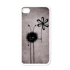 Evil Flower Bug Vintage Apple Iphone 4 Case (white) by CreaturesStore