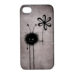 Evil Flower Bug Vintage Apple Iphone 4/4s Hardshell Case With Stand by CreaturesStore
