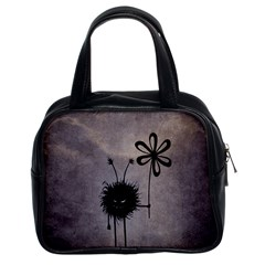 Evil Flower Bug Vintage Classic Handbag (two Sides) by CreaturesStore