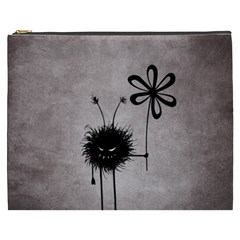 Evil Flower Bug Vintage Cosmetic Bag (xxxl) by CreaturesStore