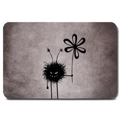 Evil Flower Bug Vintage Large Door Mat by CreaturesStore