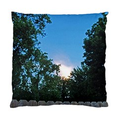 Coming Sunset Accented Edges Cushion Case (two Sided)  by Majesticmountain