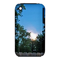 Coming Sunset Accented Edges Apple Iphone 3g/3gs Hardshell Case (pc+silicone)