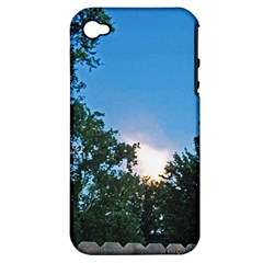 Coming Sunset Accented Edges Apple Iphone 4/4s Hardshell Case (pc+silicone) by Majesticmountain