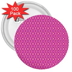 Pink Kaleidoscope 3  Button (100 Pack)