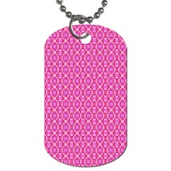 Pink Kaleidoscope Dog Tag (two Sided)  by Khoncepts