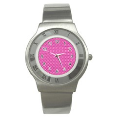 Pink Kaleidoscope Stainless Steel Watch (slim) by Khoncepts