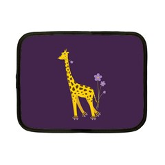 Purple Roller Skating Cute Cartoon Giraffe Netbook Sleeve (small)