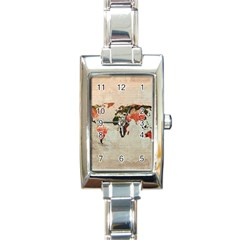 Vintageworldmap1200 Rectangular Italian Charm Watch by mjdesigns