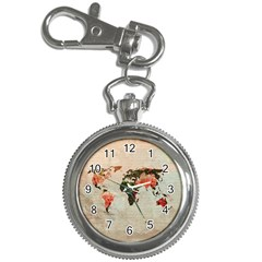 Vintageworldmap1200 Key Chain Watch by mjdesigns