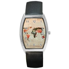 Vintageworldmap1200 Tonneau Leather Watch by mjdesigns