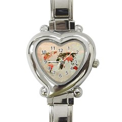 Vintageworldmap1200 Heart Italian Charm Watch  by mjdesigns
