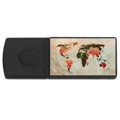Vintageworldmap1200 4gb Usb Flash Drive (rectangle) by mjdesigns