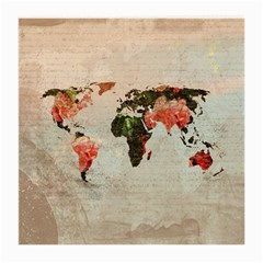 Vintageworldmap1200 Glasses Cloth (medium, Two Sided) by mjdesigns