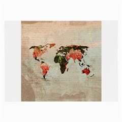 Vintageworldmap1200 Glasses Cloth (large, Two Sided) by mjdesigns