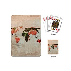 Vintageworldmap1200 Playing Cards (mini)