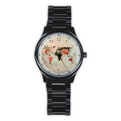 Vintageworldmap1200 Sport Metal Watch (black) by mjdesigns