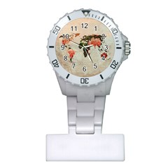 Vintageworldmap1200 Nurses Watch by mjdesigns