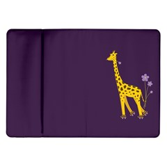 Purple Cute Cartoon Giraffe Samsung Galaxy Tab 10 1  P7500 Flip Case