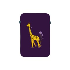 Purple Cute Cartoon Giraffe Apple Ipad Mini Protective Sleeve by CreaturesStore