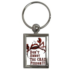 Crazy Person Key Chain (rectangle)