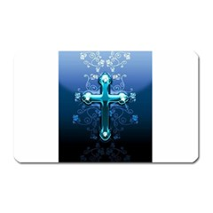 Glossy Blue Cross Live Wp 1 2 S 307x512 Magnet (rectangular)