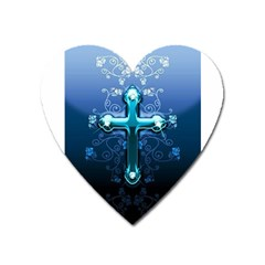 Glossy Blue Cross Live Wp 1 2 S 307x512 Magnet (heart) by ukbanter