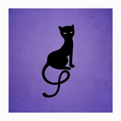 Purple Gracious Evil Black Cat Glasses Cloth (medium, Two Sided) by CreaturesStore