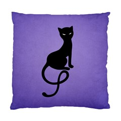 Purple Gracious Evil Black Cat Cushion Case (two Sided)  by CreaturesStore