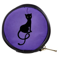 Purple Gracious Evil Black Cat Mini Makeup Case