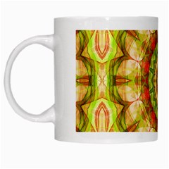 Red Green Apples Mandala White Coffee Mug by Zandiepants
