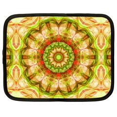 Red Green Apples Mandala Netbook Sleeve (large)