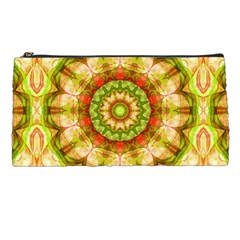 Red Green Apples Mandala Pencil Case by Zandiepants