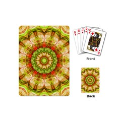 Red Green Apples Mandala Playing Cards (mini) by Zandiepants