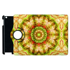 Red Green Apples Mandala Apple Ipad 2 Flip 360 Case by Zandiepants
