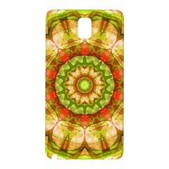 Red Green Apples Mandala Samsung Galaxy Note 3 N9005 Hardshell Back Case by Zandiepants