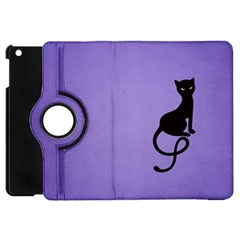 Purple Gracious Evil Black Cat Apple Ipad Mini Flip 360 Case by CreaturesStore
