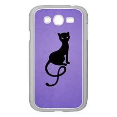 Purple Gracious Evil Black Cat Samsung Galaxy Grand Duos I9082 Case (white) by CreaturesStore
