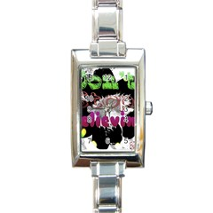 Don t Stop Believing Rectangular Italian Charm Watch by SharoleneCollection