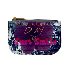 Beautiful Day Just Smile Coin Change Purse by SharoleneCollection