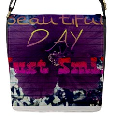 Beautiful Day Just Smile Flap Closure Messenger Bag (small)