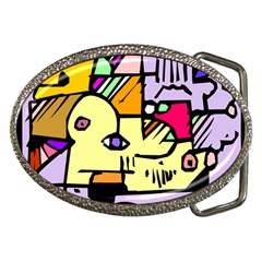 Fighting The Fog Belt Buckle (oval) by FunWithFibro