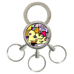 Fighting The Fog 3 Ring Key Chain by FunWithFibro