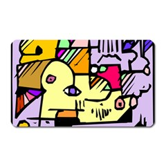 Fighting The Fog Magnet (rectangular) by FunWithFibro