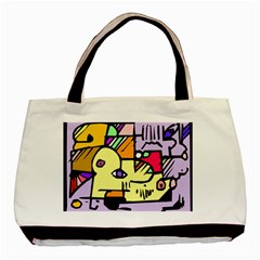 Fighting The Fog Twin Sided Black Tote Bag by FunWithFibro