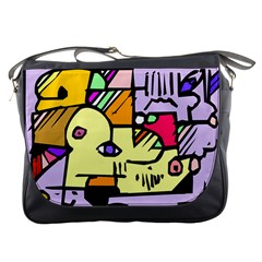 Fighting The Fog Messenger Bag by FunWithFibro